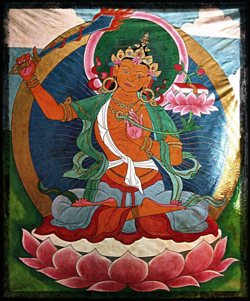 Manjusri Painted